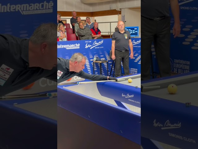 Second set gagnant Jaspers vs maréchal challenge cup Kozoom 3C  billard à trois bandes