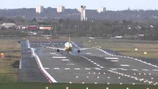 Birmingham Airport strong crosswinds (Jan15)