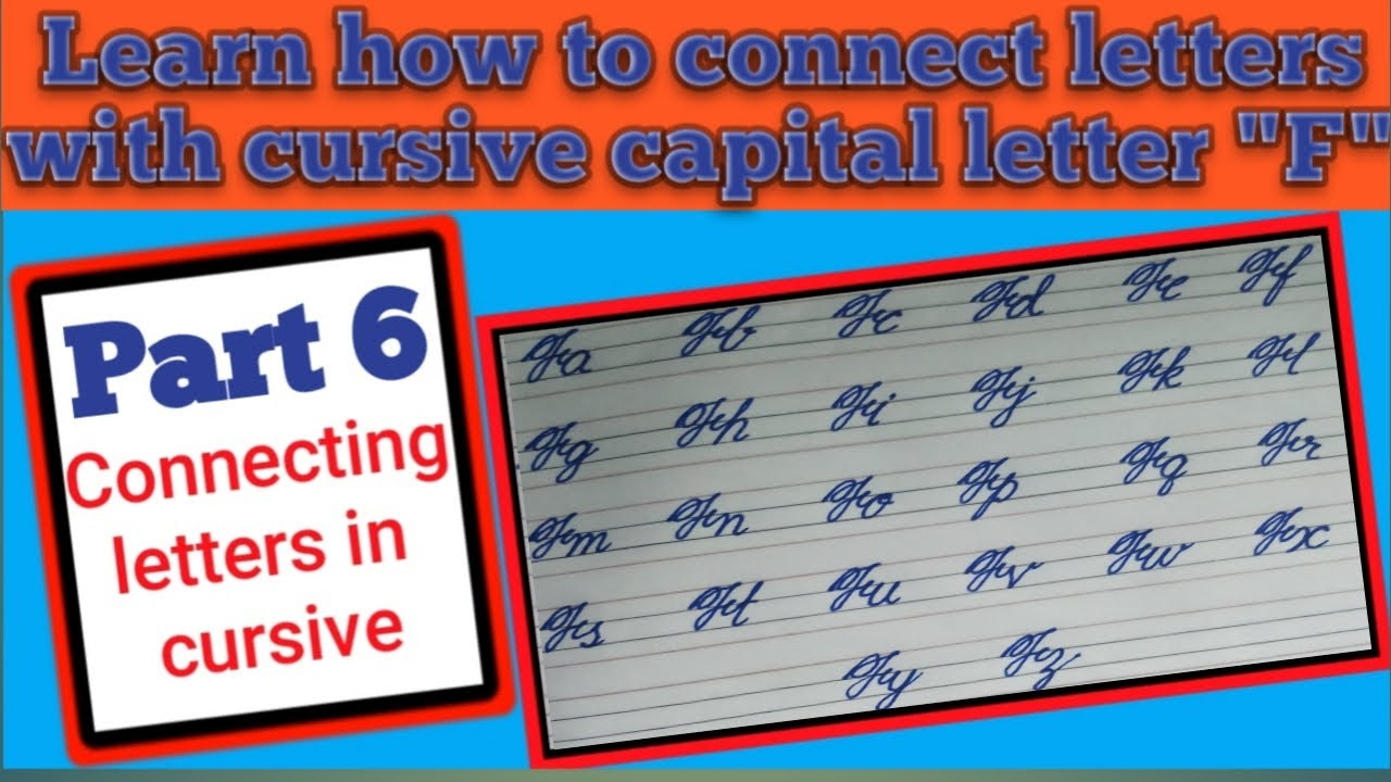 How to connect letters in cursive,connecting letters with ...