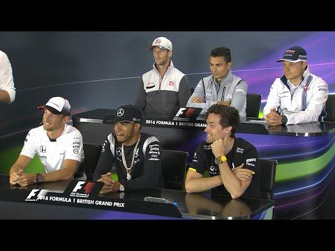 Drivers Face The Press | British Grand Prix 2016