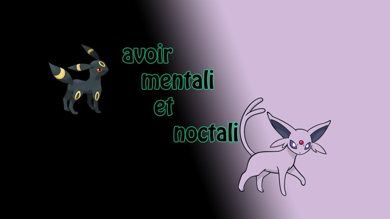 Pokemon x et y comment faire evoluer evoli en noctali - Mentali pokemon ...