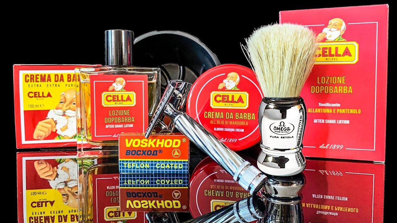 💈 Первое бритье 🔥Fatip Slant (КОСОРЕЗ) Помазок Omega Cella Мыло & AfterShave Лезвие Voskhod Timeless