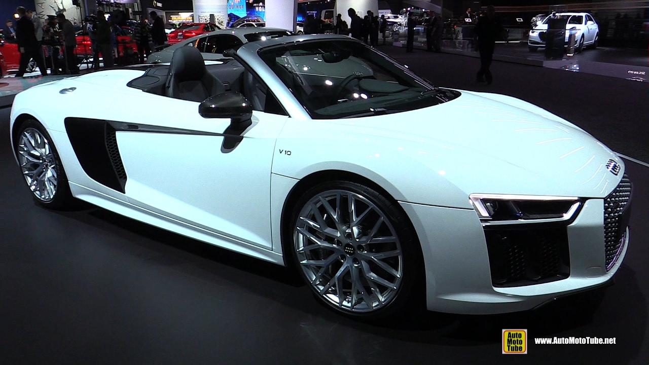 Audi R V Spyder Exterior And Interior Walkaround LA - Audi r8 v10 spyder