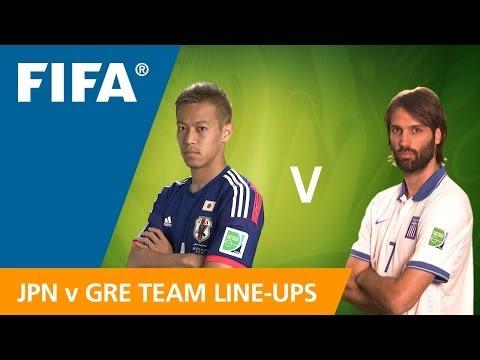 Japan v. Greece - Teams Announcement