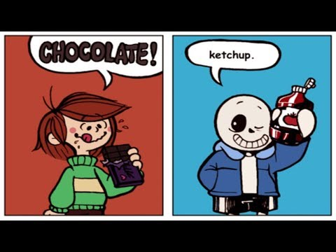 Sans Love Ketchup ?【 Undertale Comic Dubs and Animations Compilation 】