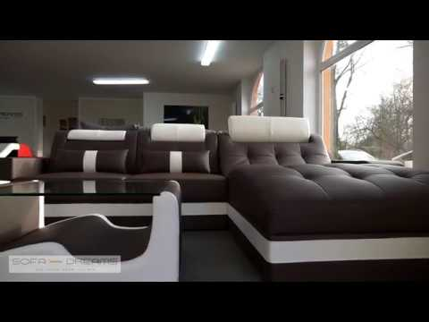 Leder Couch Dreams Designer Wave L Form Sofa Wohnlandschaft Nn0wkX8OP
