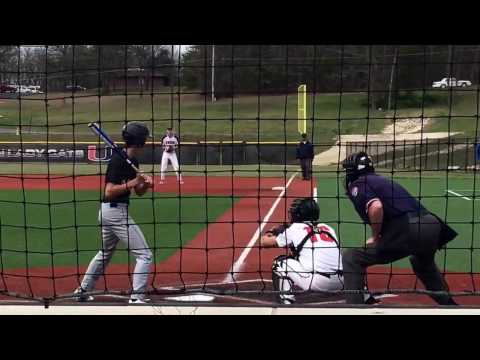 Avery Morrow catching Union Mo vs Bourbon High School March 2017