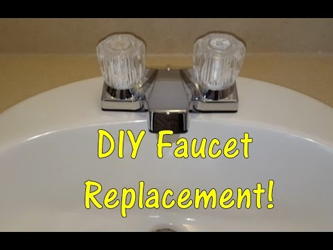 diy how to replace a bathroom sink faucet remove replace install