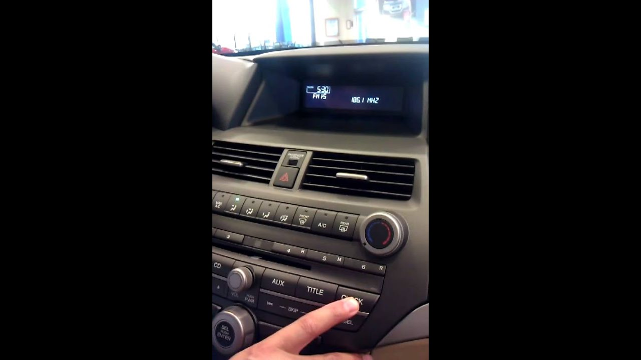 Honda North C 243 Mo Cambiar La Hora En Tu Honda Accord Youtube
