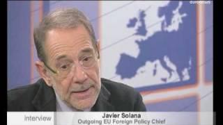 Javier Solana, Alto Representante saliente para la Política Exterior y de Seguridad Común