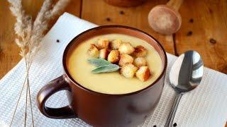 Чесночный суп с гренками. Видео рецепт