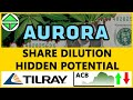 Aurora Cannabis SO WHAT! SHARE DILUTIONS, Tilray partners? & ACB Stock