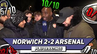 Norwich 2-2 Arsenal Player Ratings (Ft Troopz & DT)