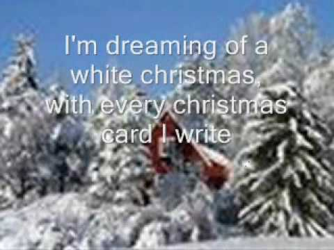 A White Christmas.I M Dreaming Of A White Christmas Song Lyrics And Slide Show