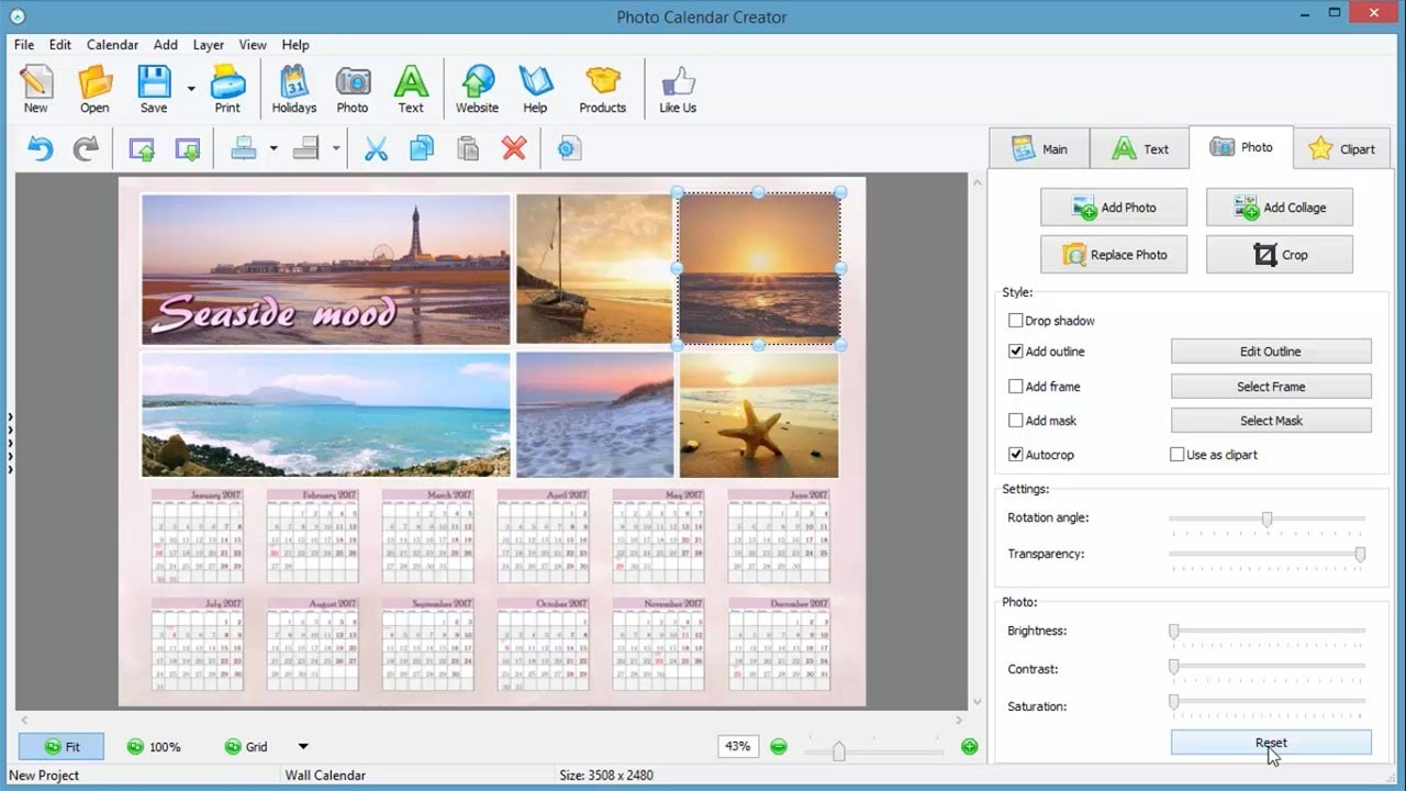 how to make a photo calendar in 5 minutes - easy calendar software review