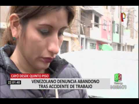 Comas: venezolano denuncia abandono de empresa tras sufrir accidente de trabajo