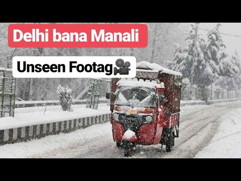 Heavy Snowfall in Delhi | Crazy weather !