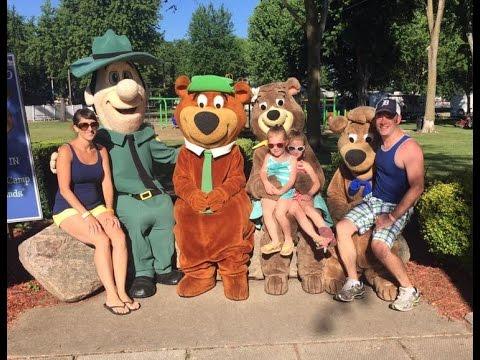 Yogi Bear Jellystone Park Family Trip Fremont Indiana Youtube