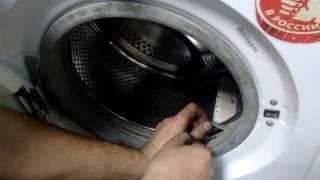 видео Причины повреждения манжеты люка стиральной машины.