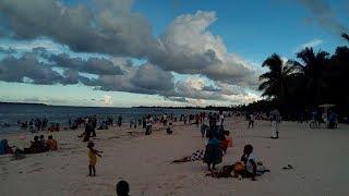 Tanzanian girls having fun in Micadi beach