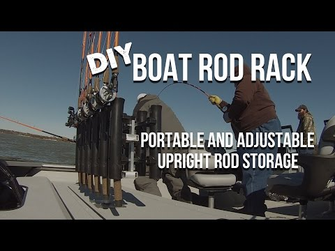 Vertical Fishing Rod Rack For Catfish Boats: DIY, Simple, Portable