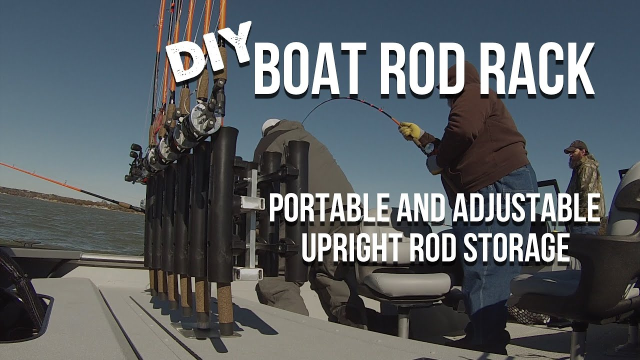 vertical fishing rod rack for boats