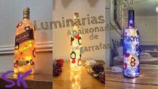 Luminárias de garrafas – Apaixonadas
