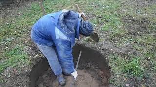 копка колодца без колец начало шахты весь процесс
