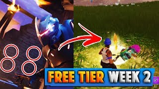 FORTNITE *FREE* BATTLE PASS TIER LOCATION (Fortnite Blockbuster Challenge Week 2)