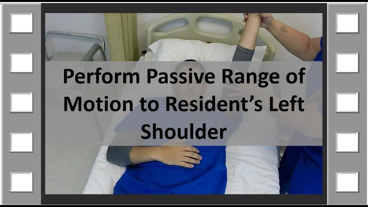 ROM Shoulder CNA Skill NEW