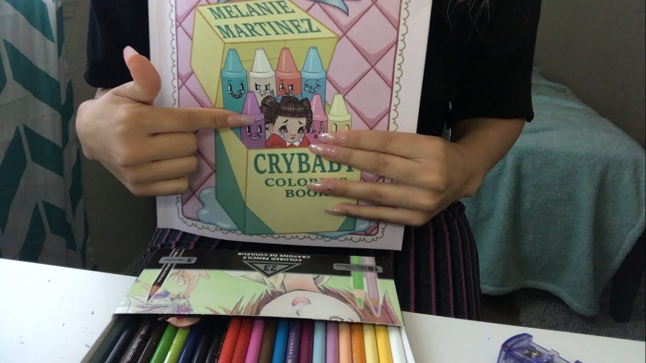 Melanie Martinez - Cry Baby coloring book ASMR🎨 - YouTube