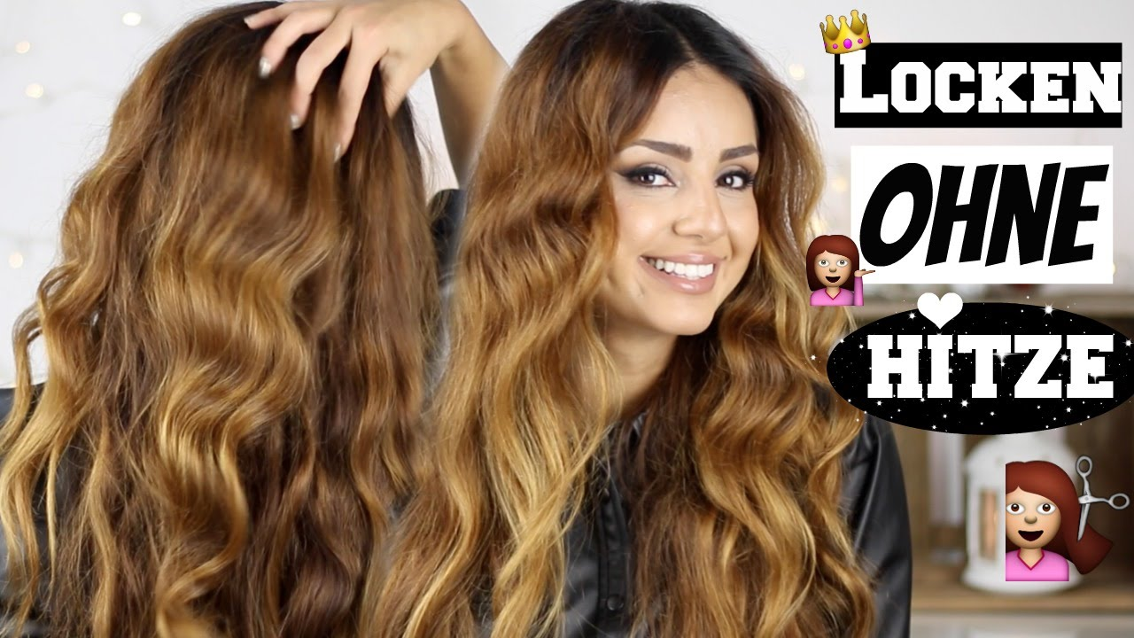 MEGA LEICHT I LOCKEN OHNE HITZE  Heatless Curls  YouTube