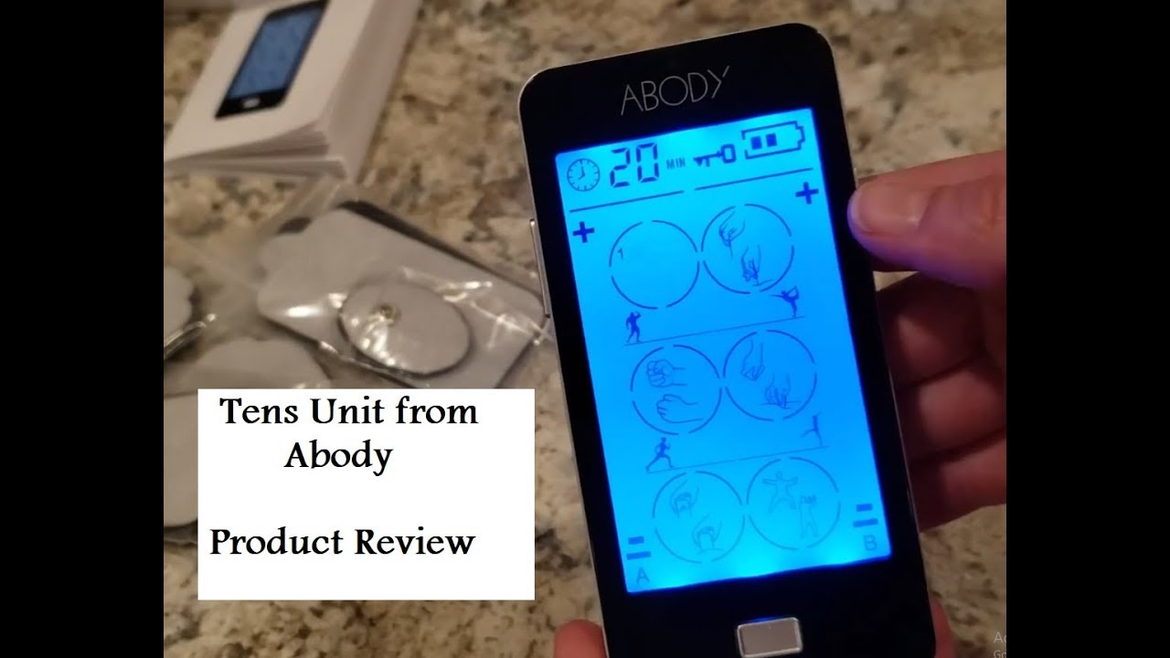 Abody TENS Unit. EMS Muscle Stimulator- Product Review - YouTube