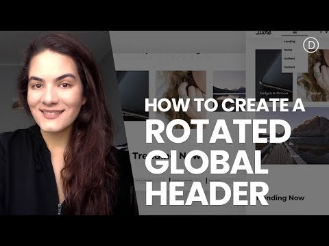 How to Create a Rotated Global Header with Divi's Theme Builder