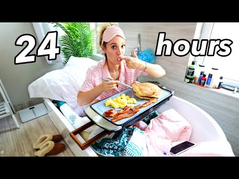 24 Hour Overnight Bathroom Challenge!!