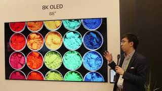 LG's 88-inch 8K OLED TV & Improved Crystal Sound at CES 2018