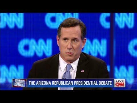 Rick Santorum, Ron Paul battle Iran, each other at CNN Arizona Debate