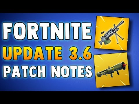 FORTNITE UPDATE 3.6 PATCH NOTES - MACHINE GUN & GUIDED MISSILE REMOVED - Fortnite Battle Royale News