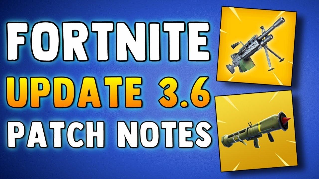 FORTNITE UPDATE 3.6 PATCH NOTES - MACHINE GUN & GUIDED ...