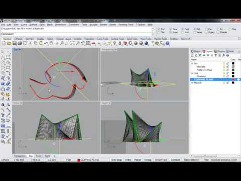 120 - Rhino - Phillips Pavilion Analysis Drawing Clipping Plane Top Views