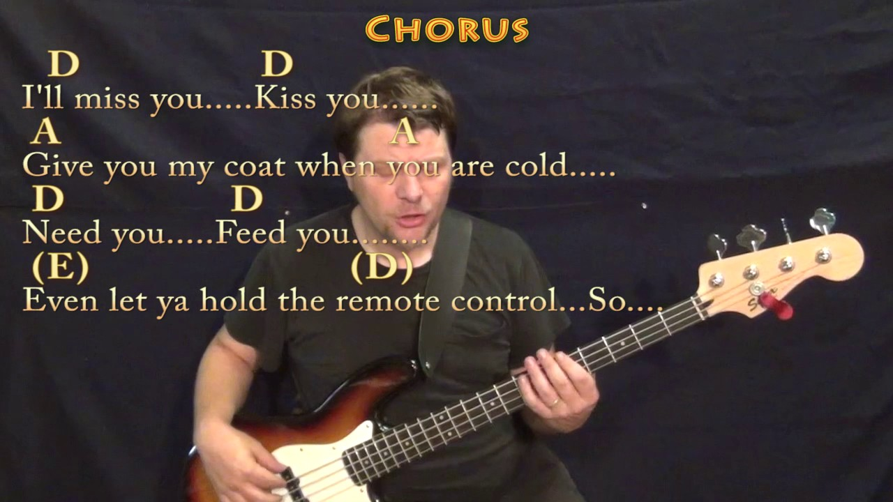 Grow Old With You Adam Sandler Bass Guitar Cover Lesson In A With
