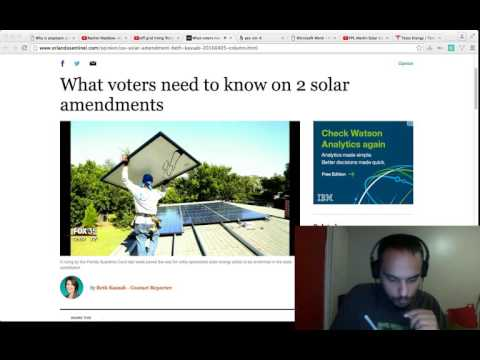 Florida Amendment 4 !Scandal or Window to Clean future? Solar energy Control & Fpl Curruption!