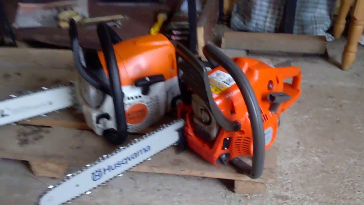 Etwas Neues genug My first chainsaws Stihl MS 231 and Husqvarna 236. - YouTube @CS_67