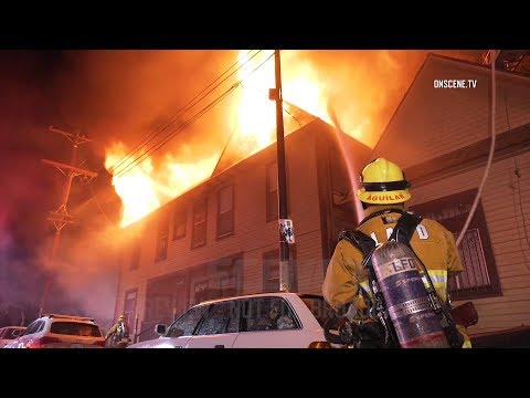 Los Angeles: Firefighters Battle Stubborn Greater Alarm Fire