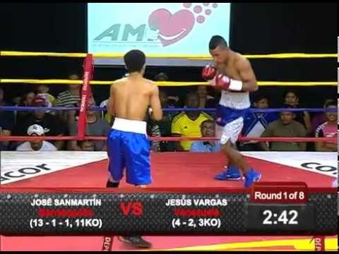 Combates Telecaribe José Sanmartín vs Jesús Vargas
