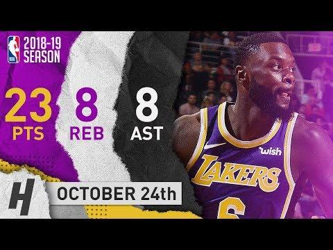 Lance Stephenson NASTY Highlights Lakers vs Suns 2018.10.24 - 23 Pts, 8 Reb, 8 Assists