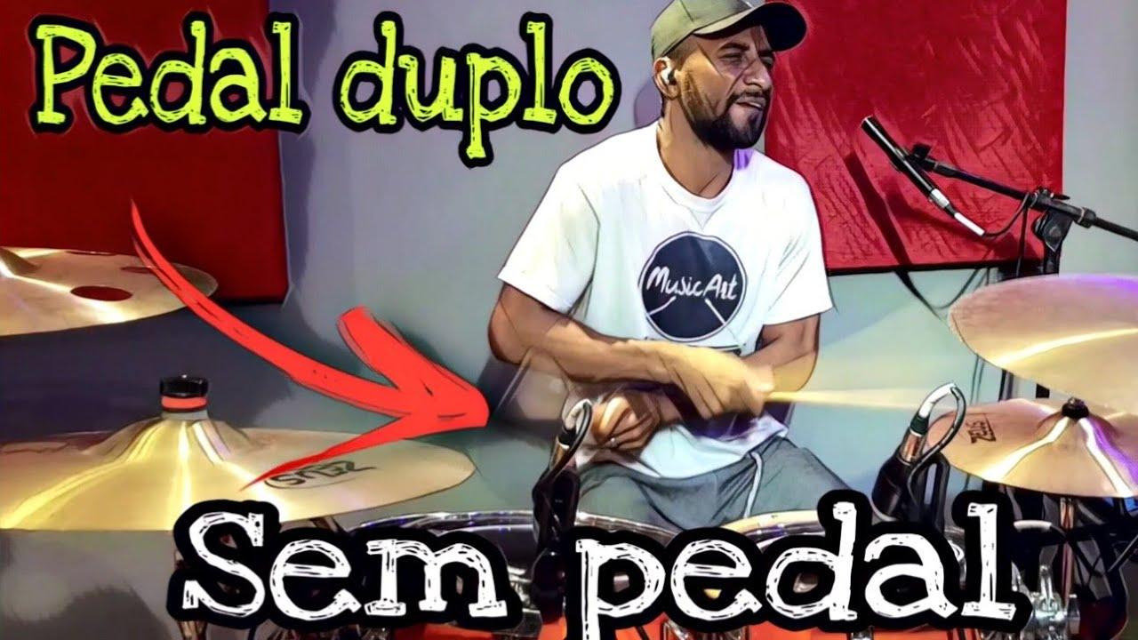 Como Tocar Pedal duplo Sem pedal Duplo - Utilize fone ihihi ✌