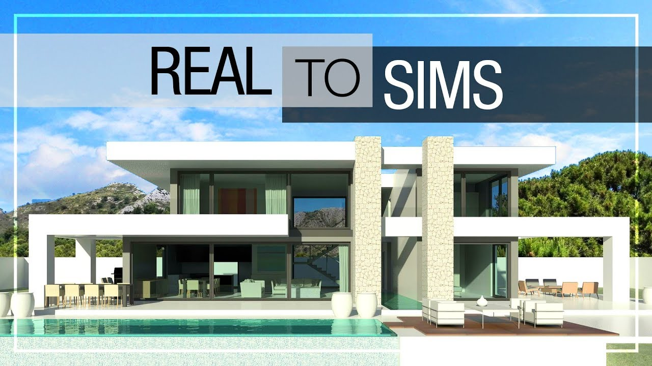 Real to sims 2 modern luxury house no cc download link