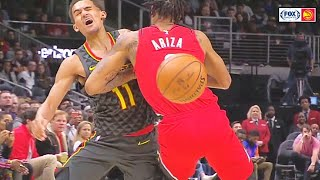 Trae Young Almost Fights With Trevor Ariza After Disrespectful Nutmeg! Hawks vs Trail Blazers