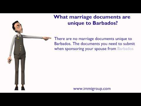 What marriage documents are unique to Barbados?